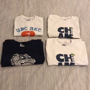 ($12 ADD-ON) Set of 4 Athletic/Workout Tshirts